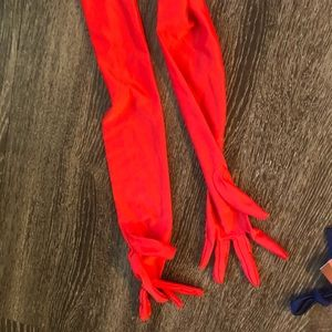 Accessories - Red Elbow Length Gloves